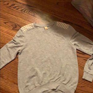 Long sleeve light weight gray sweater NEVER WORN